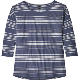 Patagonia Shallow Seas 3/4 Sleeved Top Women Lightning Stripe: Dolomite Blue